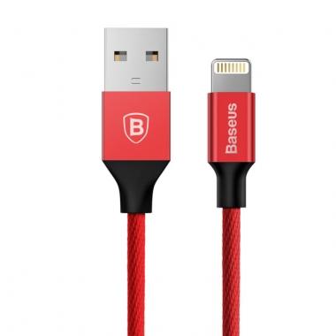 Baseus Yiven nylon Lightning kabel 1,2 meter rood