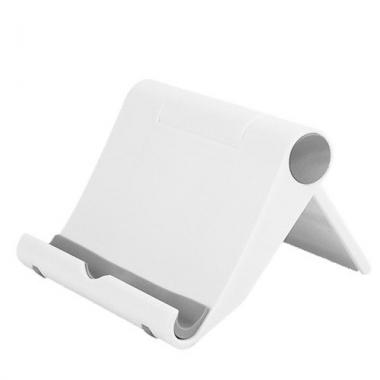 Universele smartphone- en tabletstandaard inklapbaar wit