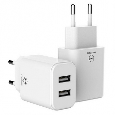 Mcdodo duo USB adapter 2.4A wit
