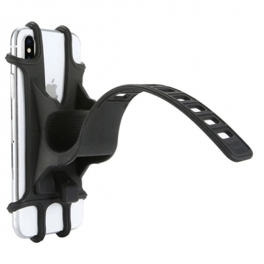 Siliconen telefoonhouder voor fietsstuur